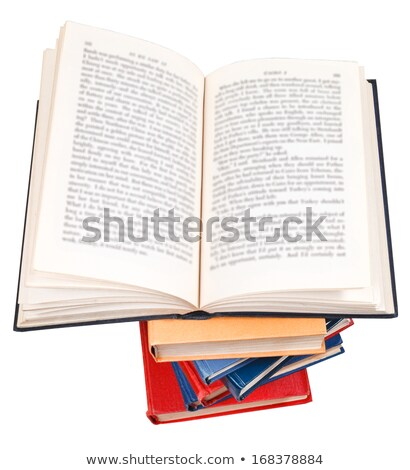 Big stack of books and opened small book stock photo © Paha_L