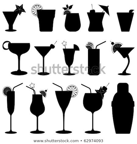 Shaker koktél üveg zöld színes ital Stock fotó © magraphics