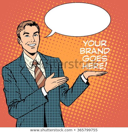 businessman advertise your brand goes here stock photo © studiostoks