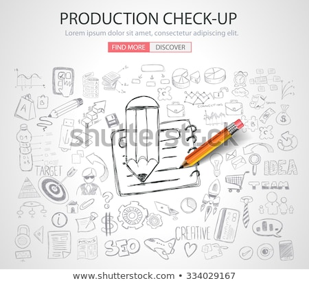 Production Check Up concept with Doodle design style Stock photo © DavidArts