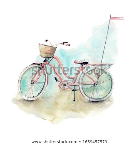 окрашенный велосипедов свет мобильных велосипед движения Сток-фото © kk-art