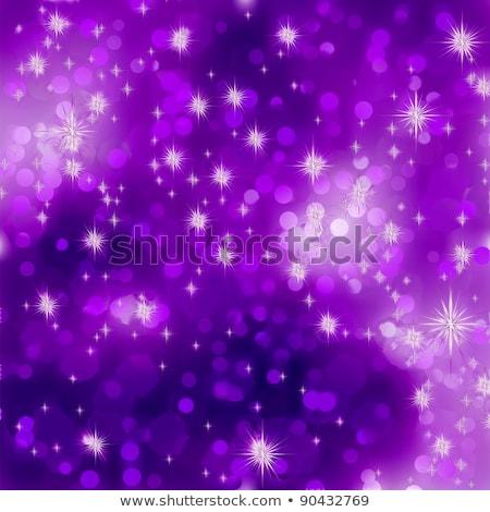 Abstract purple vector winter background. EPS 8 Stock photo © beholdereye