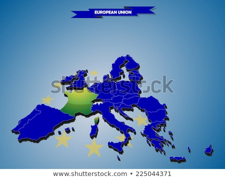 Denmark and EU Flags Blend Stock photo © Bigalbaloo