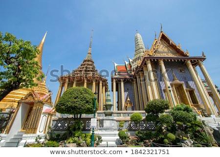 Tapınak zümrüt Tayland ayrıntılar Bina yaprak Stok fotoğraf © dashapetrenko