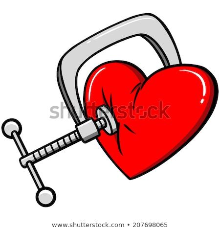 kırmızı · kalp · stres · üzüntü · kırık - stok fotoğraf © devon
