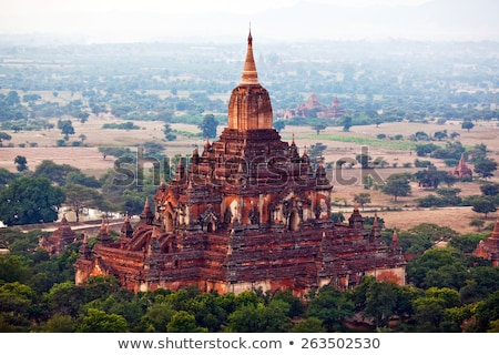 Pagoda Myanmar panorama vista birmania ciudad Foto stock © Mikko
