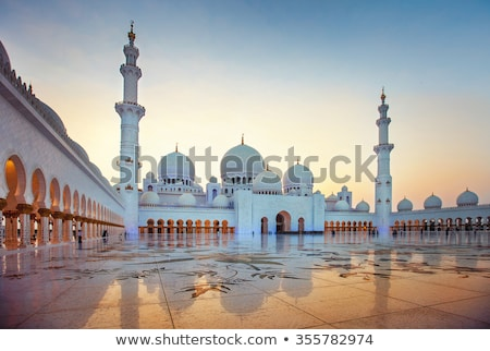 мечети закат Абу-Даби красивой белый золото Сток-фото © CaptureLight
