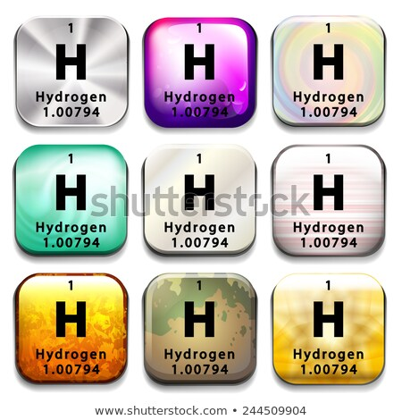 A periodic table button showing the Hydrogen Stock photo © bluering