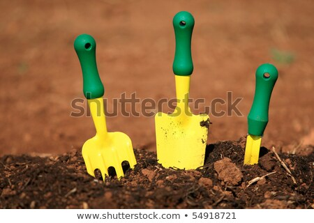 three small garden tools on soil stock photo © ozgur