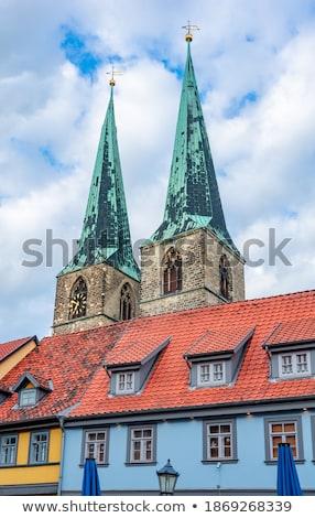 古い ランドマーク 城 教会 都市 赤 ストックフォト © compuinfoto