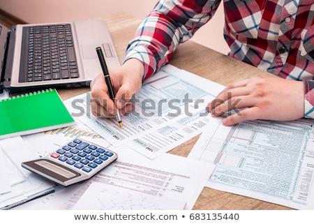 vulling · belasting · vorm · 1040 · standaard · inkomen - stockfoto © dolgachov