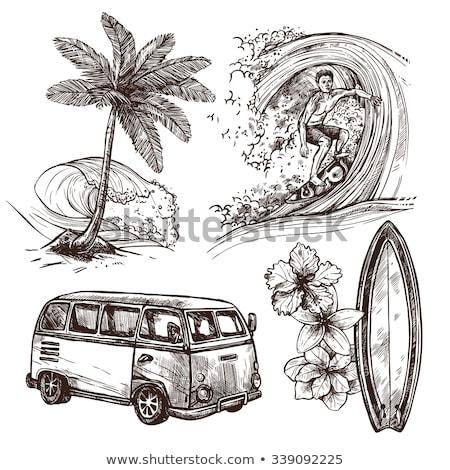 Surfboard sketch icon. Stock photo © RAStudio