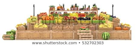 gyümölcs · kirakat · stilizált · réteges · illusztráció · könnyű - stock fotó © DzoniBeCool