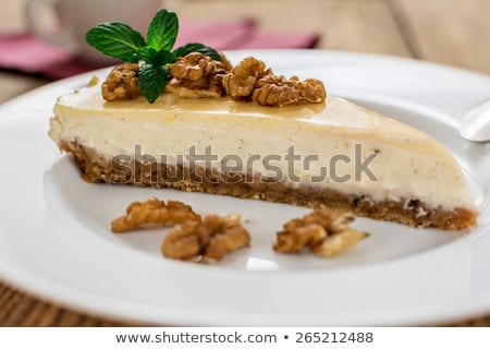 Stock photo: Walnut cheesecake with cinnamon