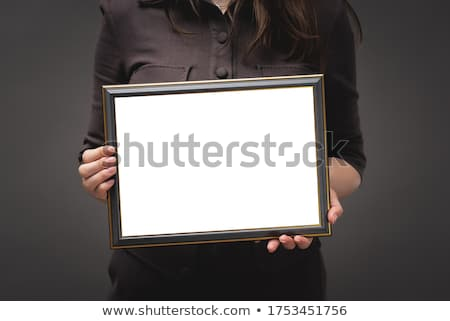 üzletasszony tart diploma bizonyítvány vázlat felfelé Stock fotó © stevanovicigor