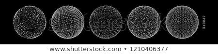 mesh wireframe sphere digital vector design illustration Stock photo © SArts