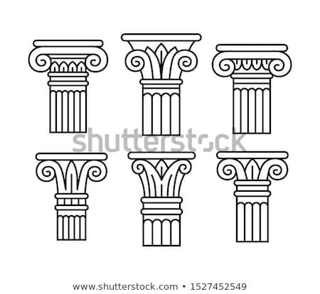 Column capital Stock photo © tilo