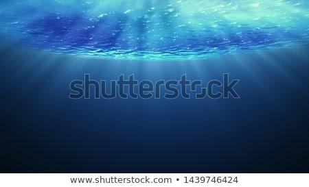 Soyut mavi rays dışarı alt Stok fotoğraf © SArts
