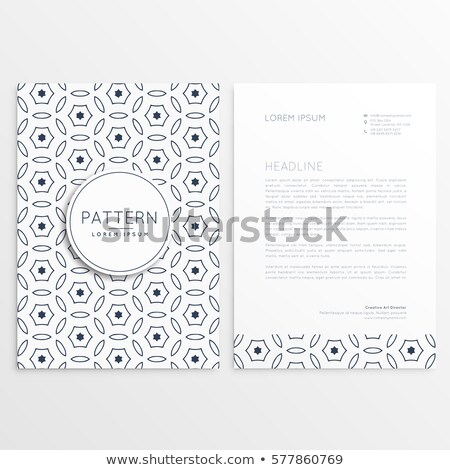 minimal elegant letterhead design with front and back sides Stock photo © SArts
