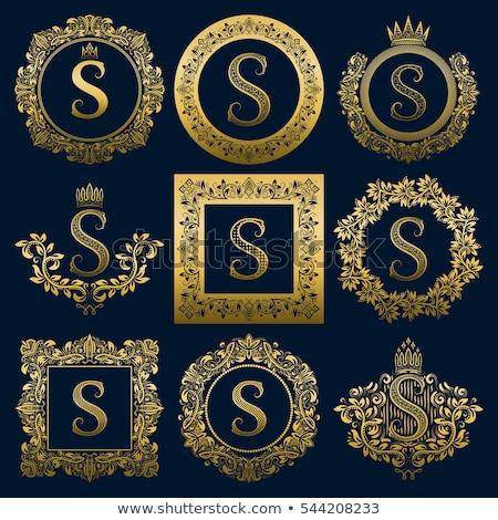 Soyut stil monogram logo tasarımı mektup düğün Stok fotoğraf © SArts