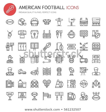 vetor · linha · ícones · americano · jogo · de · futebol · elementos - foto stock © Nadiinko