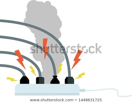 damaged electrical socket Stock photo © taviphoto