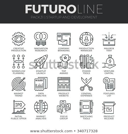 startup web design concept thin line stock photo © genestro