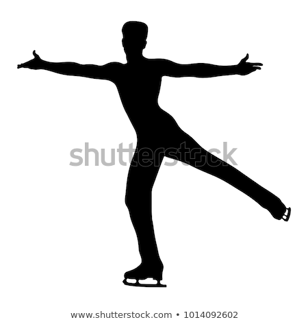 Férfi alkat görkorcsolyázó ázsiai pózol korcsolya Stock fotó © RAStudio