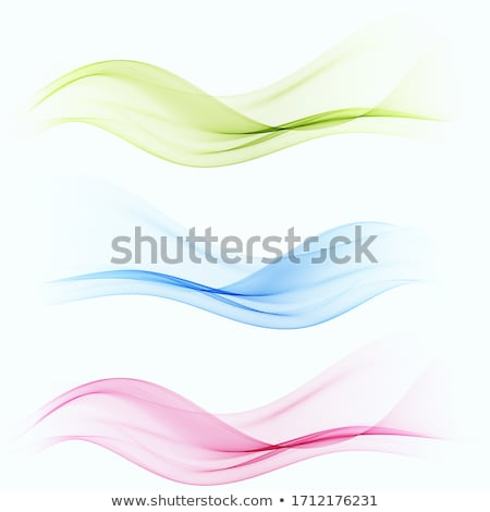 Set of color transparent smoky wave Stock photo © fresh_5265954