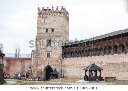古い 城 冷たい 春 空 市 ストックフォト © Vanzyst