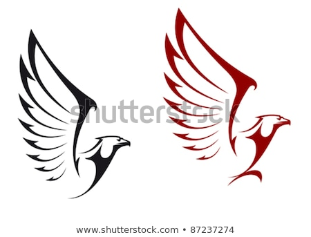 Eagle head on background from shield. Design element for logo, l Stock photo © masay256