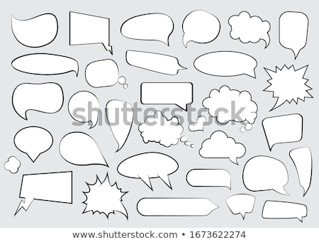retro · szövegbuborék · gradiens · háló · terv · felirat - stock fotó © masay256