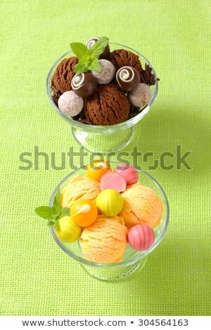 Gelato cioccolato due coppe alimentare frutta Foto d'archivio © Digifoodstock