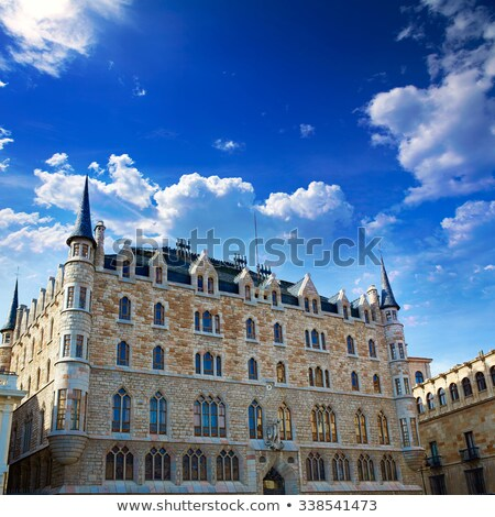 Casa Botines of Gaudi in Leon. Spain Stock photo © Photooiasson