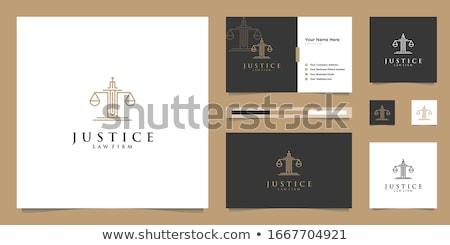 Stock fotó: Arculat · törvény · igazság · ujj · nyomtatott · alakú