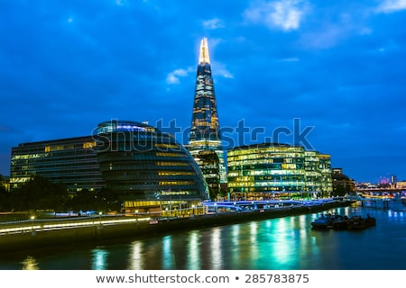 London City Skyline near Southwark Bridge stock photo © chrisukphoto