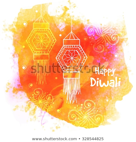 Kreative Diwali Festival Farben splash abstrakten Stock foto © SArts