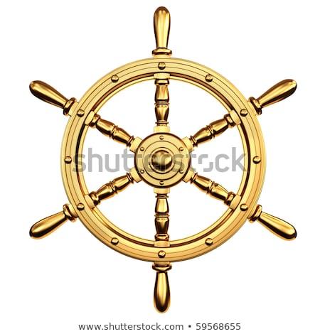 Altın gemi tekerlek altın takı parlak Stok fotoğraf © blackmoon979
