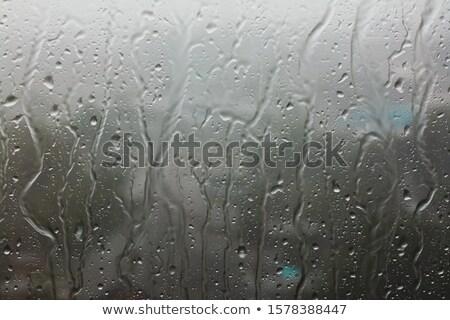 Mokro szkła powierzchnia nowoczesne streszczenie kroplami wody Zdjęcia stock © stevanovicigor
