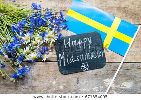 zászló · Svédország · számítógép · generált · illusztráció · selymes - stock fotó © andreasberheide