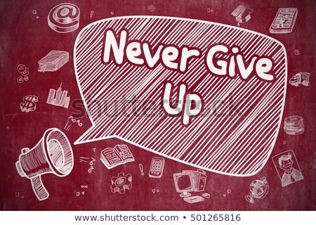 никогда · давать · вверх · символ · многие · вещи - Сток-фото © tashatuvango