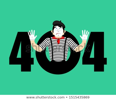 Error 404 Mime surprise. Page not found template for web site. p Stock photo © popaukropa