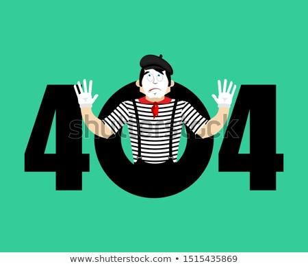 404 · sayfa · değil · vektör · dizayn · teknoloji - stok fotoğraf © popaukropa