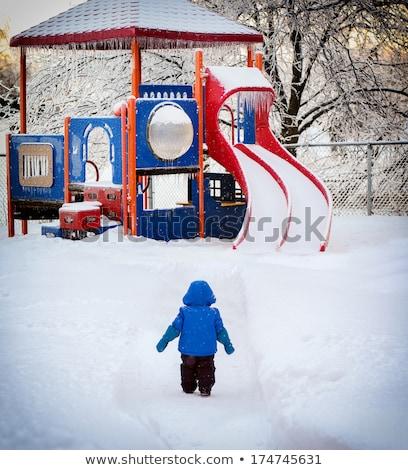 Kız kapalı derin kar çocuk kış Stok fotoğraf © IS2