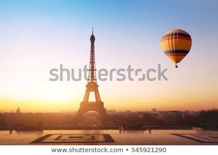 Eyfel Kulesi gün batımı Paris Fransa Retro şehir Stok fotoğraf © neirfy