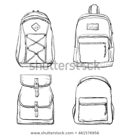 рюкзак эскиз икона xxx вектора изолированный Сток-фото © RAStudio