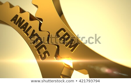 CRM Analytics on Golden Gears. Stock photo © tashatuvango
