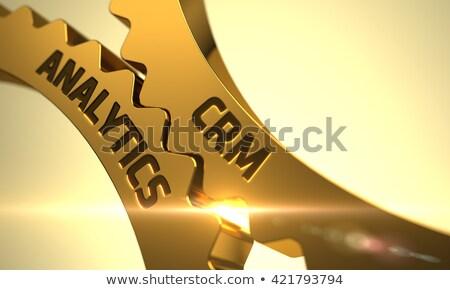 stratégie · d'entreprise · mécanisme · métallique · Cog · engins · texte · 3d - photo stock © tashatuvango