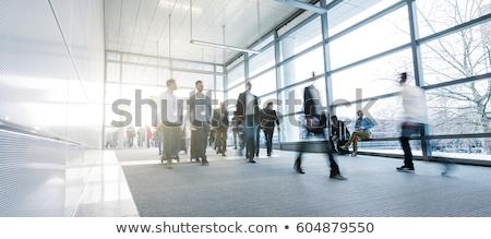 Pessoas caminhada hora do rush imagem mulher homem Foto stock © konradbak