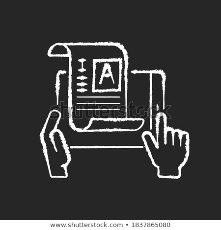 Online Reading Concept. Doodle Icons on Chalkboard. Stock photo © tashatuvango